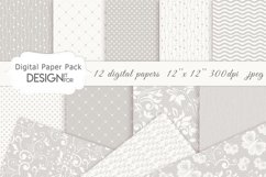 Wedding Digital Paper Pack, Wedding Patterns, Lace Papers Product Image 1