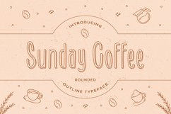Sunday Coffee - Rounded Outline Typeface Product Image 1