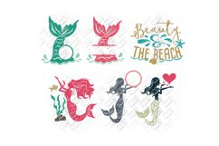 Mermaid SVG Bundle Quotes Sayings Monogram in SVG/DXF/PNG/JP Product Image 4