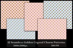 Seamless Golden Crystal Charm Patterns - 12 Images Product Image 2