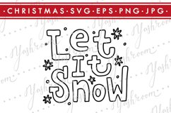 Let it snow-Christmas Quote SVG Cut File Silhouette Product Image 1