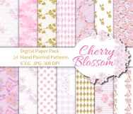 Cherry Blossom Digital Paper Product Image 1