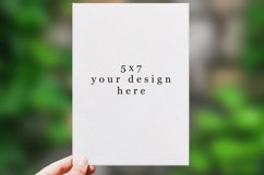 Invitation Mockup 4 sizes. Realistic PSD mockup Product Image 2