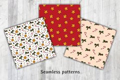 Christmas & New year Digital papers JPG PNG Seamless pattern Product Image 5