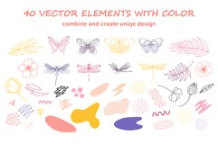 Organic natural seamless pattern set Product Image 10