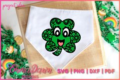 CONNY THE CLOVER SVG St Patrick's Day Zentangle Design Product Image 6