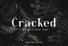Cracked//A Handlettered Serif Product Image 1