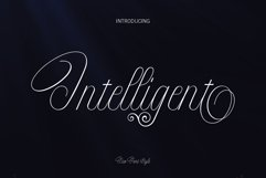 Intelligent   Duo Font Style Product Image 1