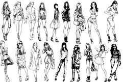 50 fashion pretty girls vector Product Image 4