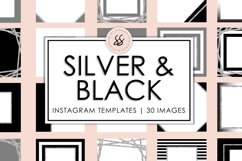 Silver and Black Instagram Templates Product Image 1