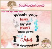 Sign SVG | Wash And Pray Bubbles Reminder Quote Product Image 6
