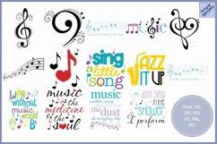 Music Bundle - SVG, Clipart, Printables Product Image 1