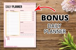 Girly habits tracker template page Product Image 2