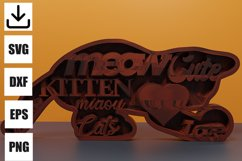 Kitten layered for decoration svg Product Image 2