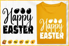 Happy Easter SVG - Easter Hunting SVG E- Easter Cut File Product Image 1