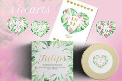 Tulips Watercolor Floral Bundle Product Image 2