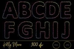 Rainbow String Lights Alphabet Graphic Bundle Product Image 2