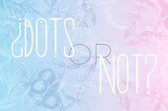 Morning Rain Font with Dots Product Image 3