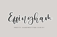 Effingham a Cute Bouncy Handwritten Font Product Image 1