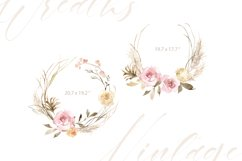 Vintage Watercolor Roses Flowers and Wreaths Product Image 3