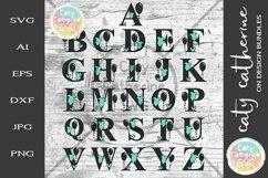Full Alphabet A-Z Newborn Baby Monogram SVG Cut file Product Image 2