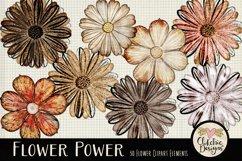 Flower Clipart Elements - Flower Digital Scrapbook Elements Product Image 5