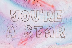 Shine Bright, Star Font Product Image 5