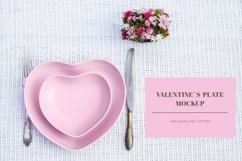 Valentines day mockup with heart shaped plate Product Image 1