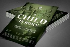 A Child is Born Church Flyer Template Product Image 7