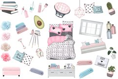 SELF CARE Clipart, Stay Home Fashion Illustration Product Image 10