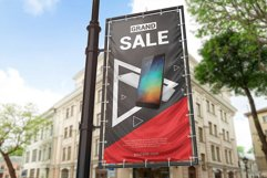 Vertical Outdoor Advertising Banner Mockup Product Image 6