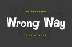 Wrong Way Font Product Image 1