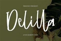 Delilla - A Fun Script Font Product Image 1