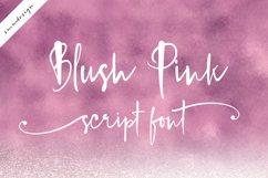 Blush Pink Handwritten Script Font Product Image 1