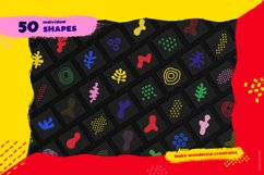 Hand-drawn seamless patterns, shapes & brushes bundle Product Image 2