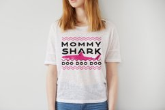 Retro Mommy Shark Print / Mothers Day T-Shirt, Family SVG Product Image 2