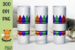 Split Crayon School Teacher Skinny Tumbler Sub Product Image 1