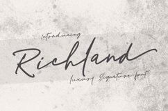 Richland | signature font Product Image 1