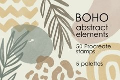 Boho abstract Procreate stamp brushes and palettes Product Image 1