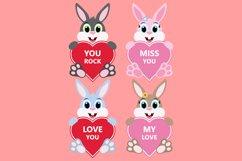 Valentine Heart Bundle Clipart, Conversation Hearts, PNG Product Image 5