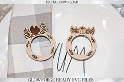 Glowforge Napkin Ring Set - Thanksgiving - Laser Machine Product Image 3