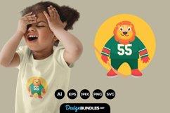 Animal Hockey Mascot for T-Shirt Design Product Image 1