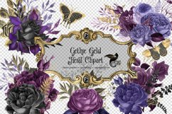 Gothic Gold Floral Clipart Product Image 2