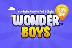 Wonder Boys - Fun Kids Font Display Product Image 1