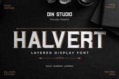 Halvert-Layered Display Font Product Image 1