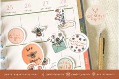 Botanical Printable Stickers | Cricut Design Sticker Sheet Product Image 5