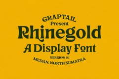 Rhinegold - Display Font Product Image 1