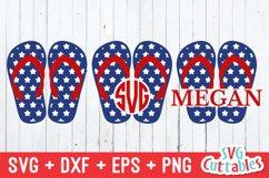 Flip Flops SVG   Patriotic Flip Flops   Fourth of July Product Image 1