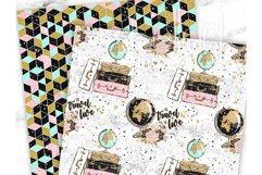 Travel Digital Paper, Scrapbook Paper, Wunderlust Product Image 5