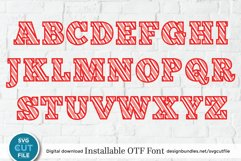 Christmas font - a Candy Cane font with candycane letters Product Image 3
